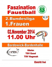 2014-10-29 Saisonauftakt in der 2. Faustball-Bundesliga