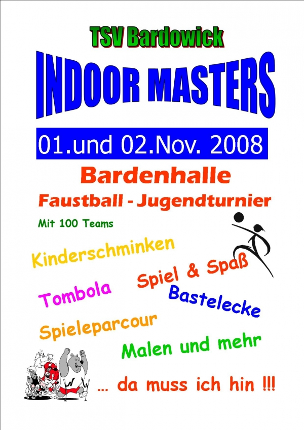 Plakat und Flyer INDOOR MASTERS 2008